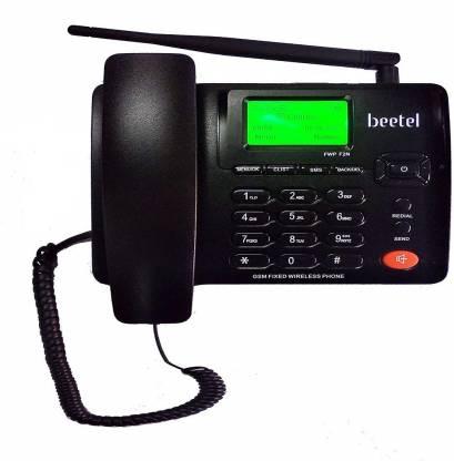 Beetel F2N DUAL SIM GSM Wireless GSM Landline Phone ( Black ) Cordless Landline Phone  (Black)
